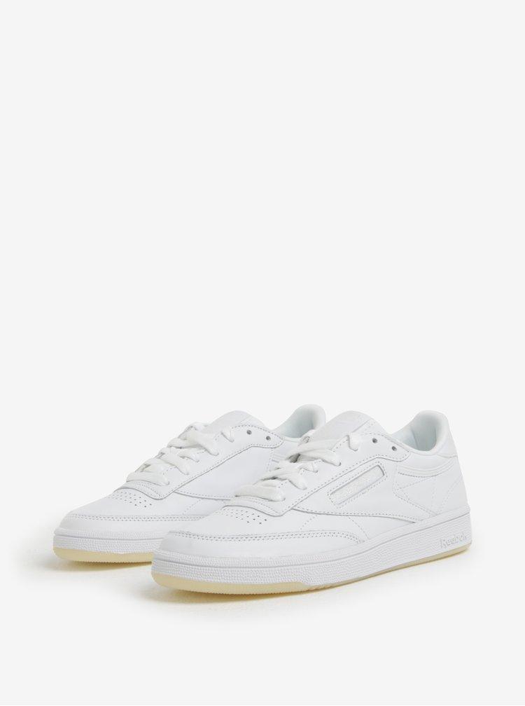 Bílé dámské kožené tenisky Reebok Club C
