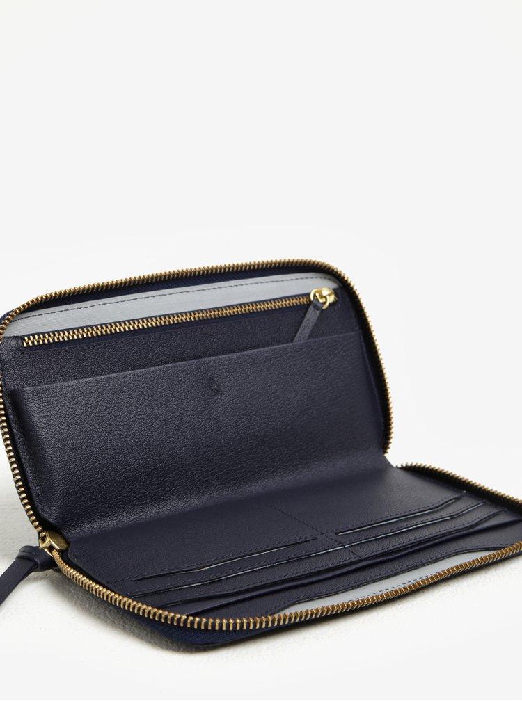 Tmavě modrá dámská velká kožená peněženka Bellroy Folio