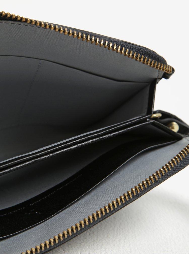 Portofel negru din piele cu maner pentru femei  Bellroy Clutch