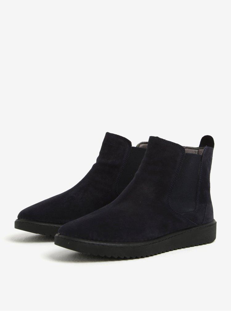 Tmavě modré semišové chelsea boty OJJU