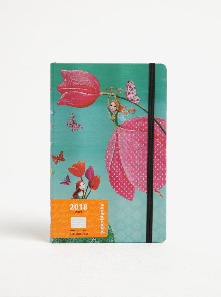 Tyrkysový diář 2018 Paperblanks Joyous Springtime