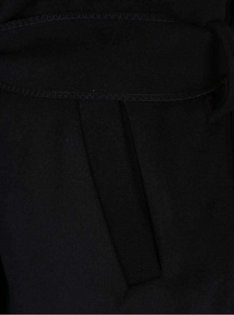 Pardesiu negru cu cordon in talie - Haily´s Luana