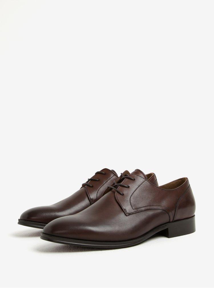 Pantofi maro inchis din piele naturala pentru barbati - ALDO Lauriano