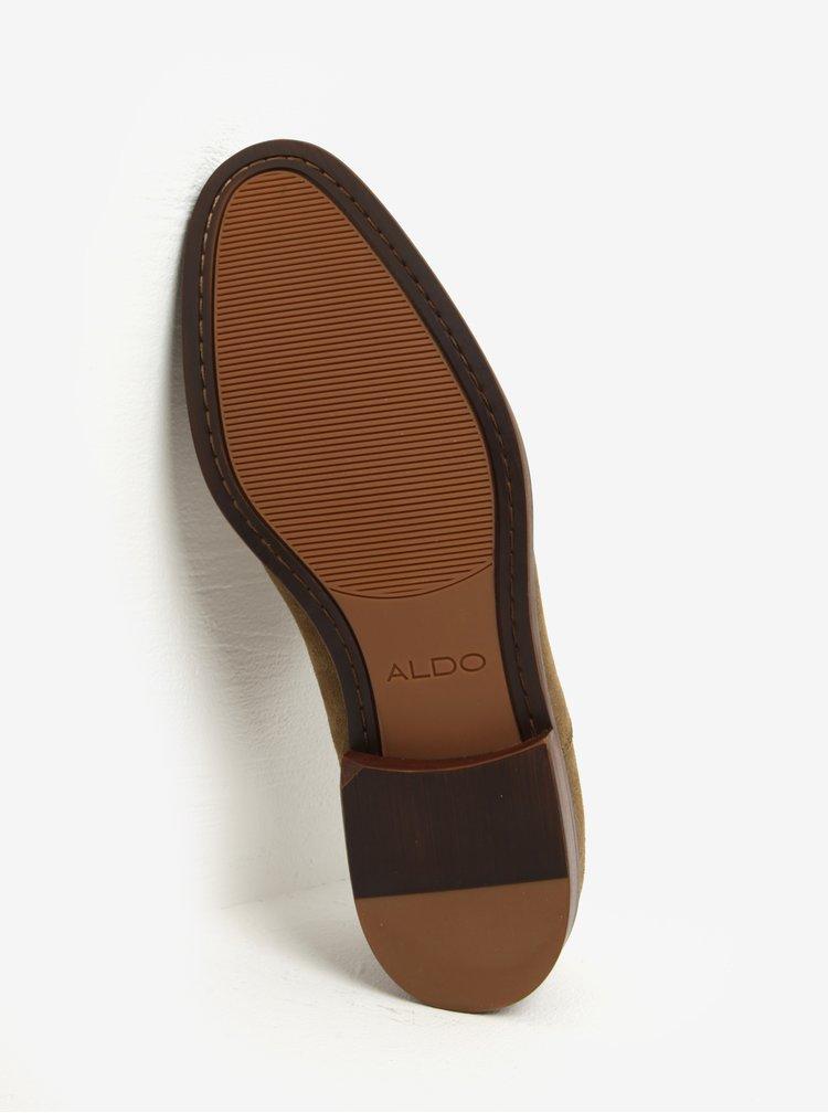 Pantofi kaki din piele naturala intoarsa pentru barbati - ALDO Eloie