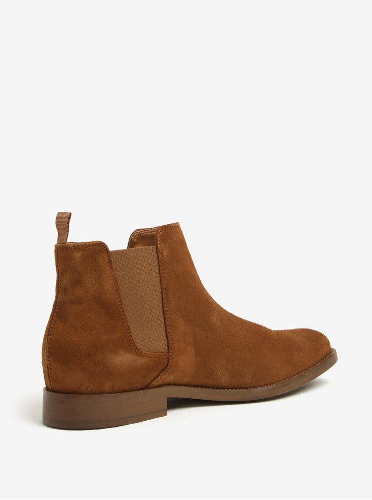 Hnědé pánské semišové chelsea boty ALDO Vianello-R
