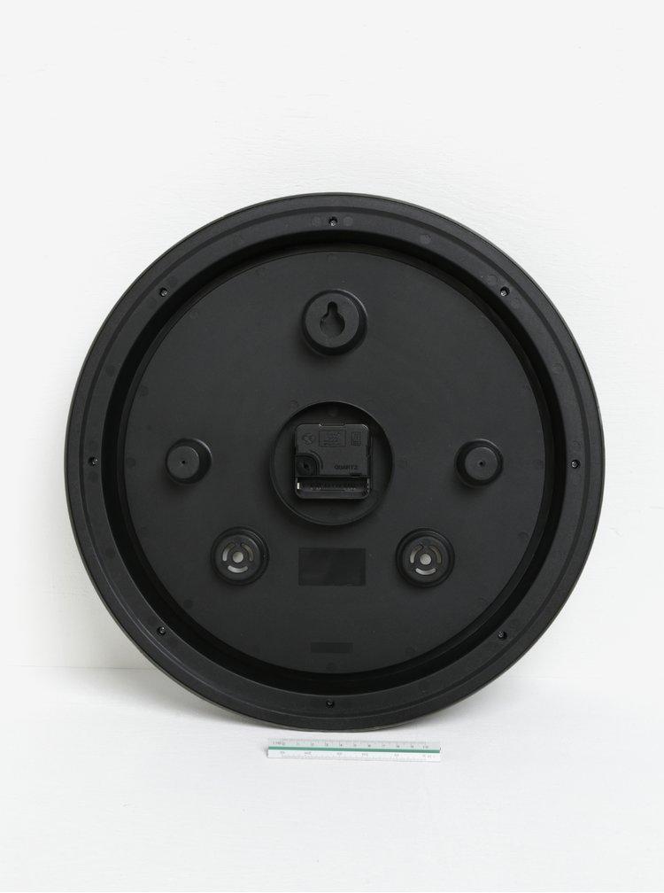 Ceas de perete crem&negru cu aspect vintage  SIFCON
