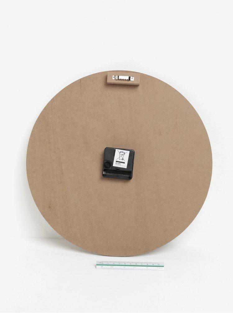 Ceas de perete maro&negru cu inscriptie SIFCON