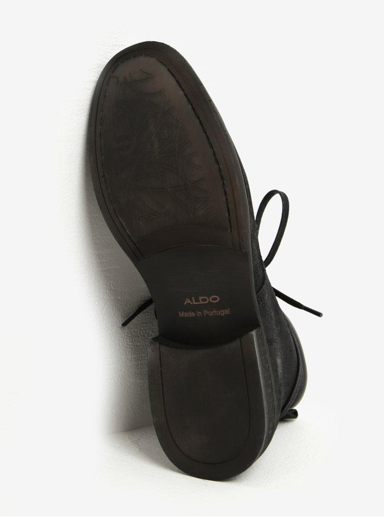 Ghete negre din piele naturala pentru barbati - ALDO Derrian