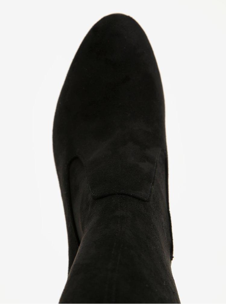 Černé vysoké kozačky na podpatku ALDO Sumers