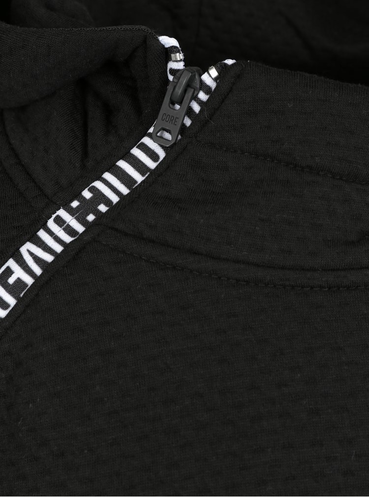 Hanorac negru cu fermoar asimetric - Jack & Jones Kari