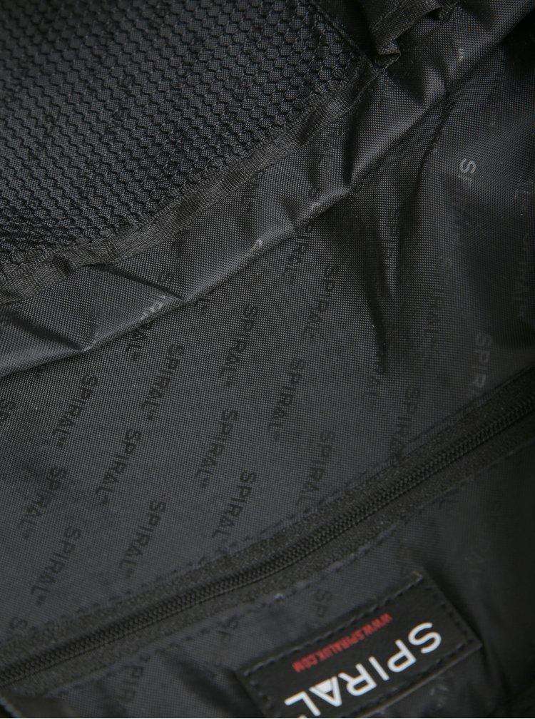 Rucsac negru cu print pentru femei - Spiral Humming Bird