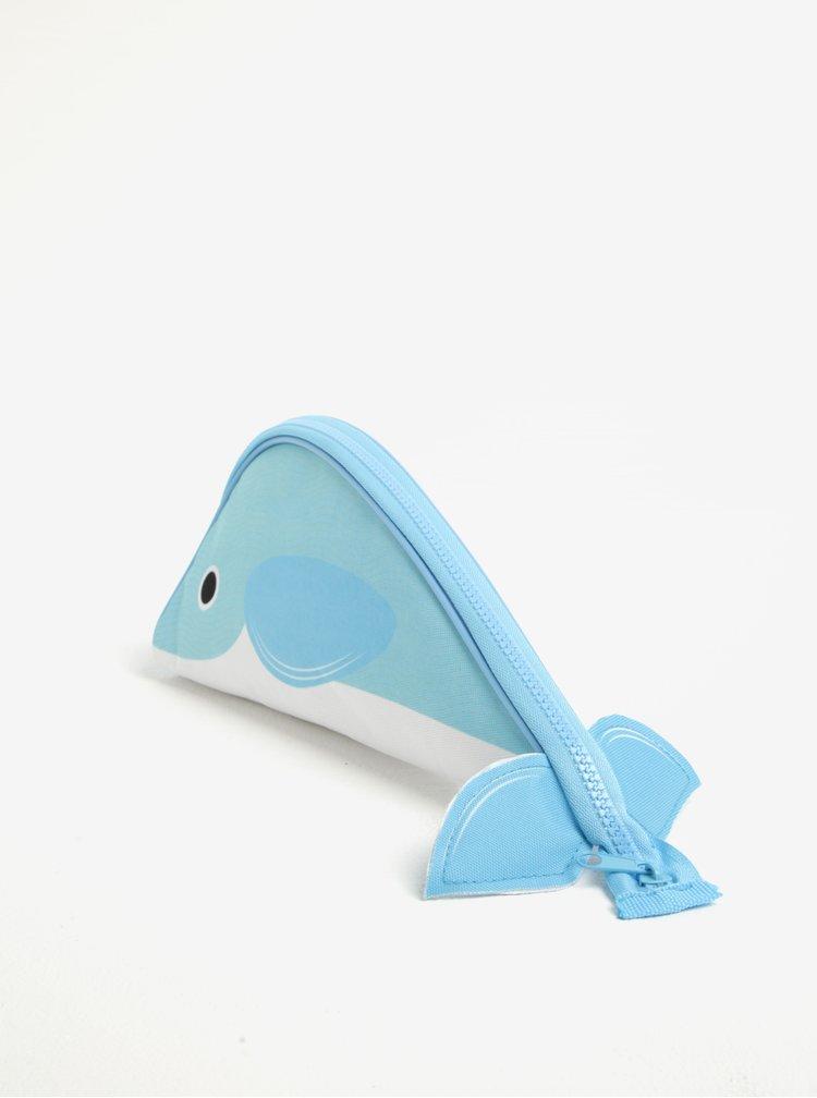 Trusa albastra pentru cosmetice in forma de balena - Gift Republic