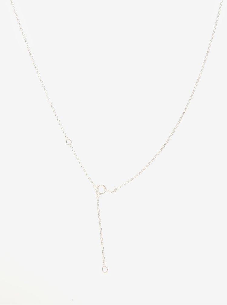 Náhrdelník ve stříbrné barvě s dvojitým kruhovým přívěškem VILA Efj Simply