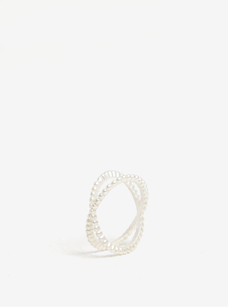 Dvojitý prstýnek ve stříbrné barvě VILA Efj Double
