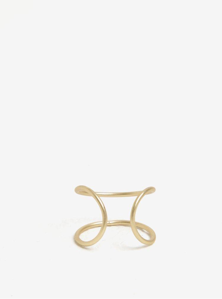 Prstýnek ve zlaté barvě VILA Efj Curved