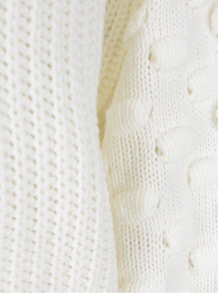 Krémový krátký svetr Miss Selfridge