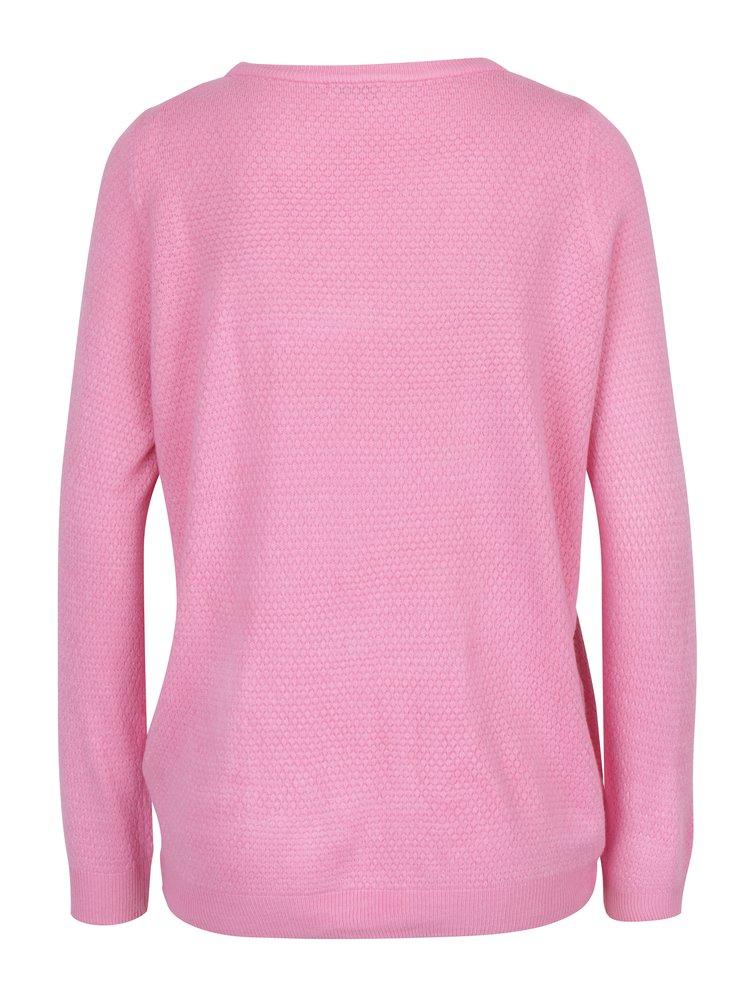 Růžový lehký svetr Jacqueline de Yong Friends
