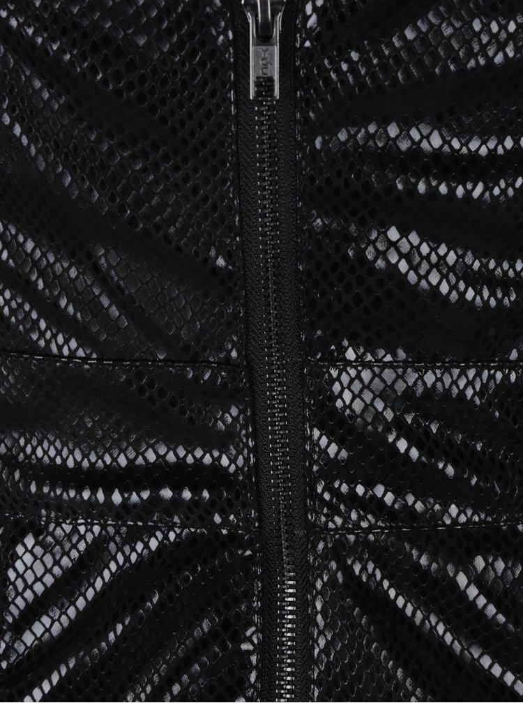 Černé asymetrické šaty Miss Selfridge