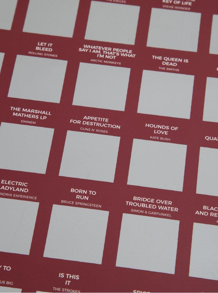 Calendar razuibil cu 100 de albume de ascultat - Gift Republic