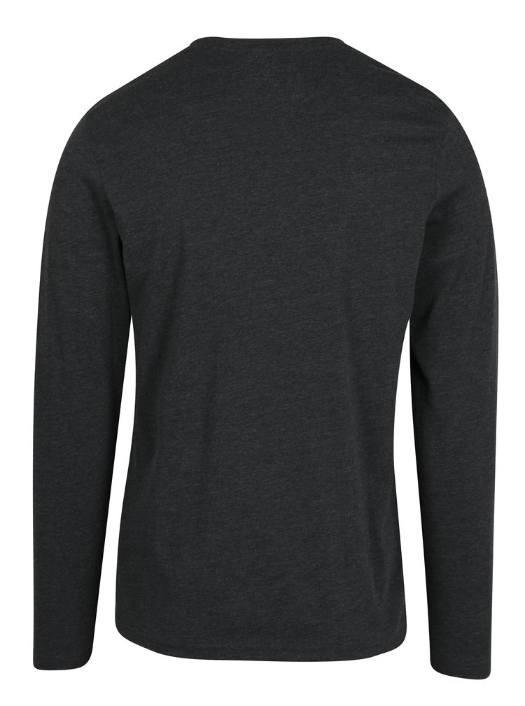 Bluza gri inchis slim fit cu print - Jack & Jones Studio