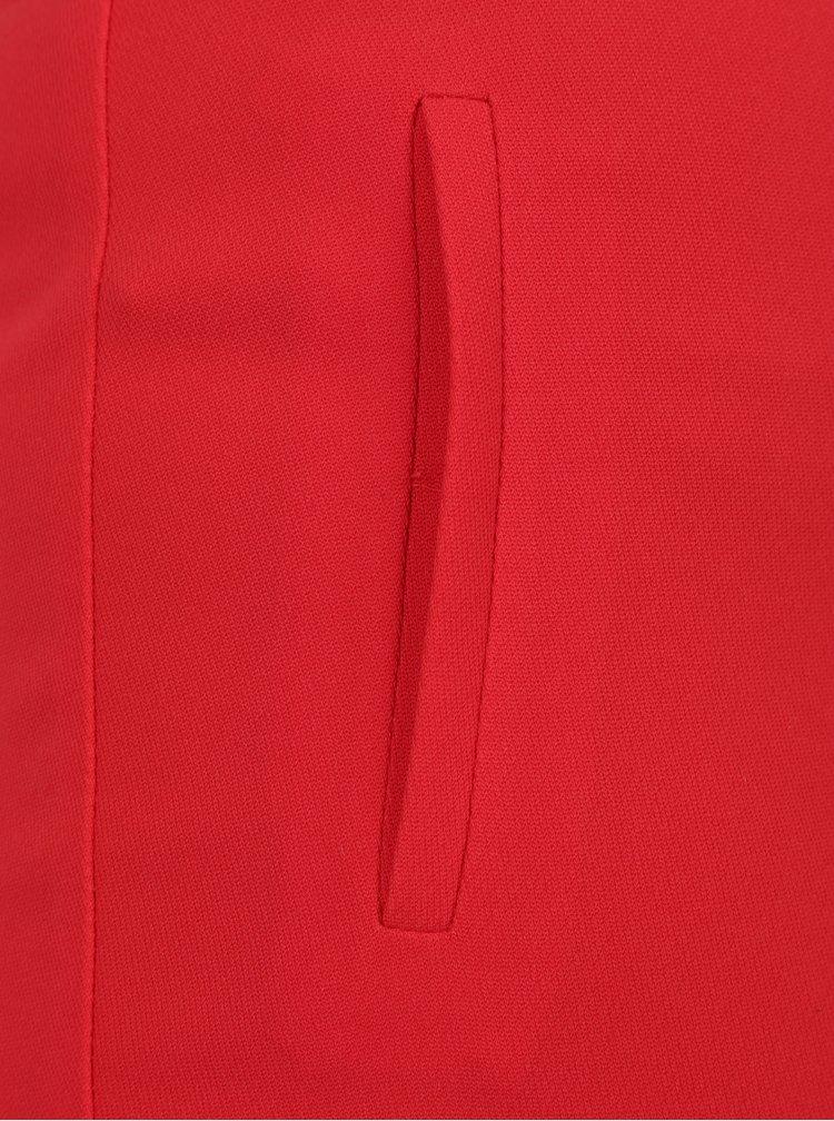 Červené zkrácené kalhoty Miss Selfridge