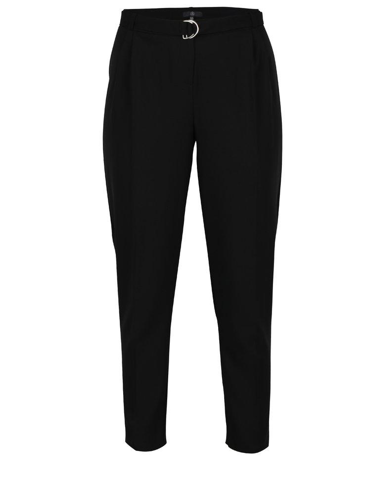 Černé kalhoty s páskem MISSGUIDED