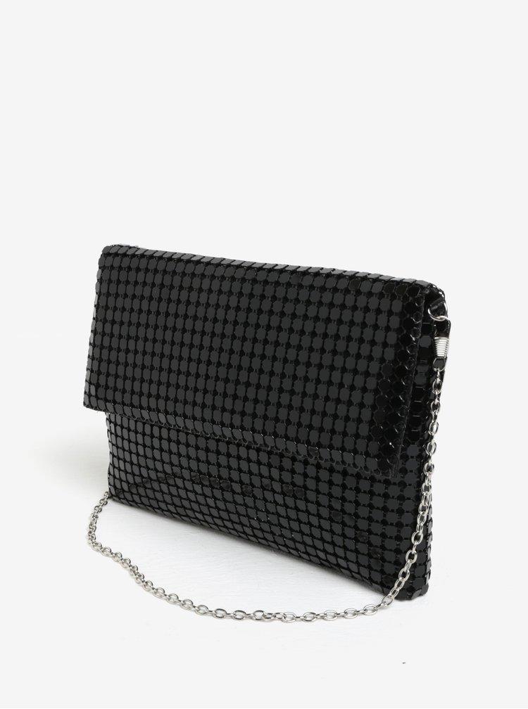 Černá lesklá kabelka s flitry MISSGUIDED
