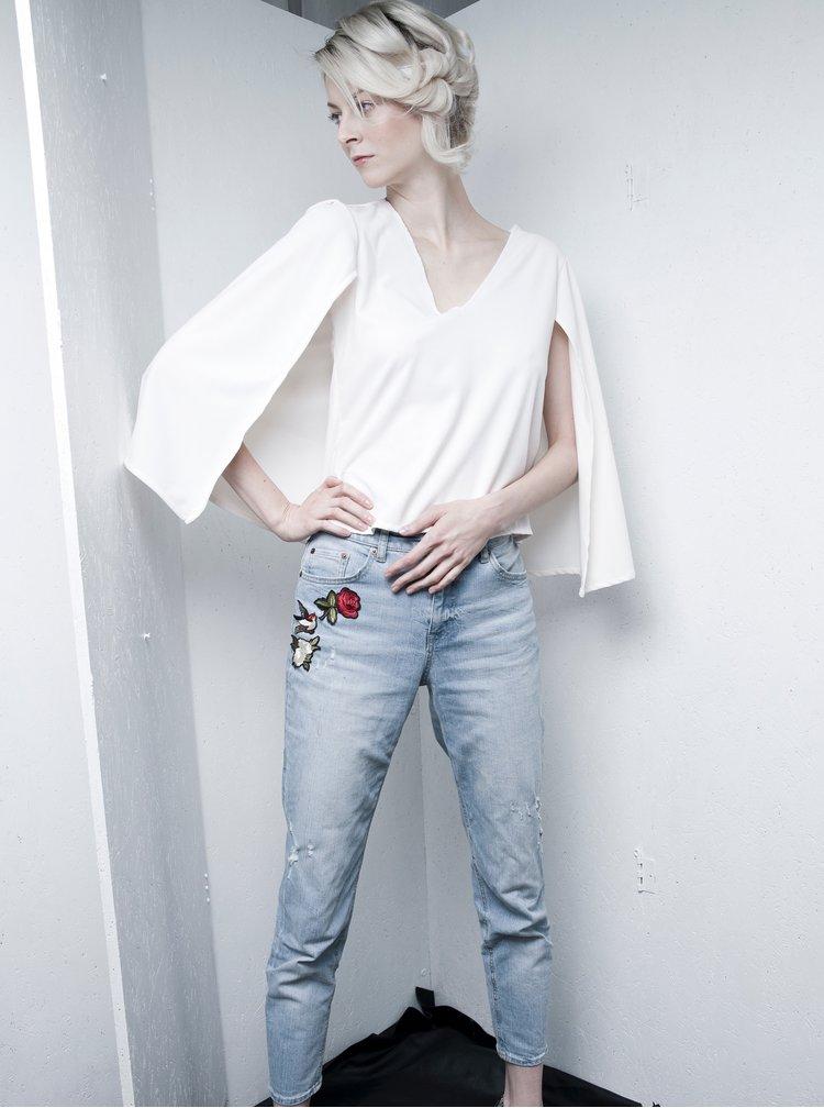 Krémový top se zadním volným dílem La femme MiMi SuperGirl
