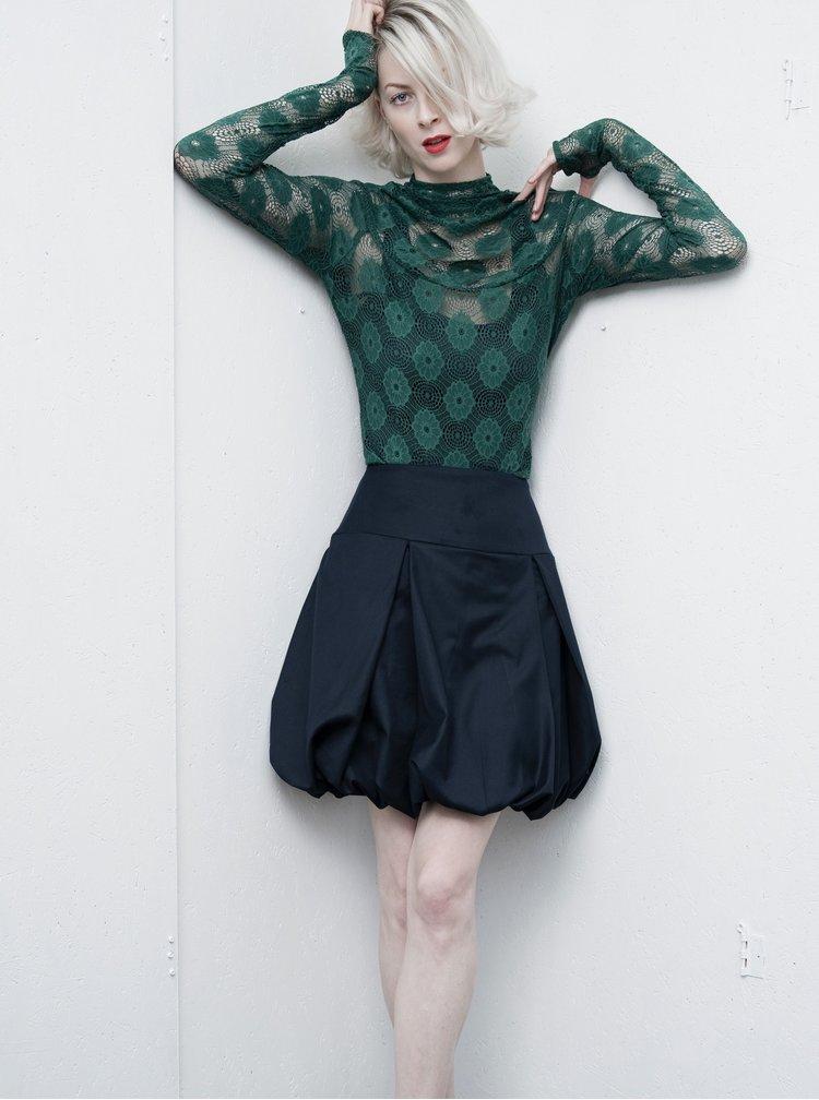 Zelený krajkový top s rolákem La femme MiMi
