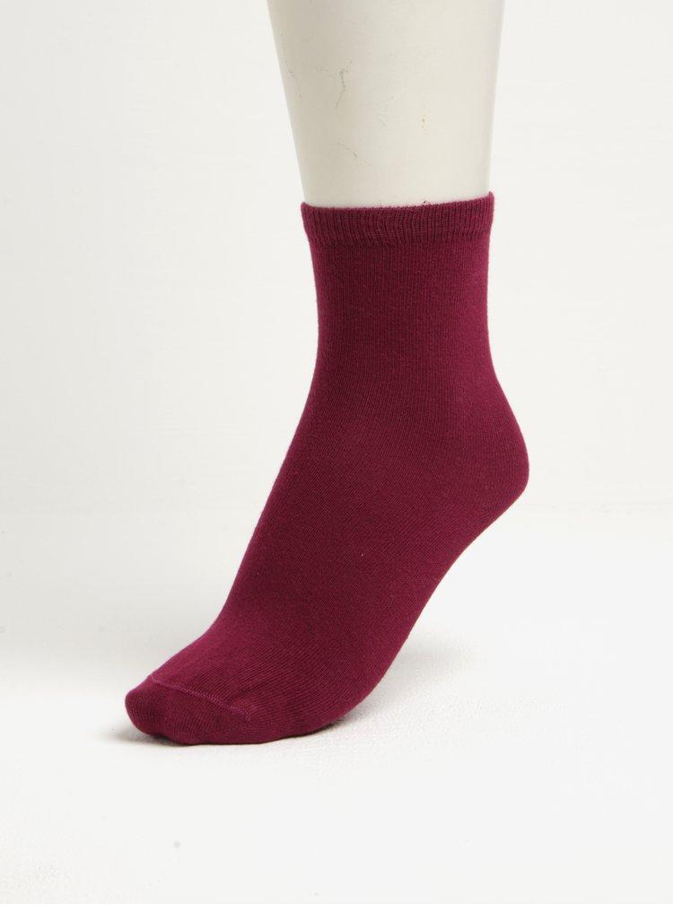 Sada pěti párů holčičích ponožek v růžové a šedé barvě name it Vilde