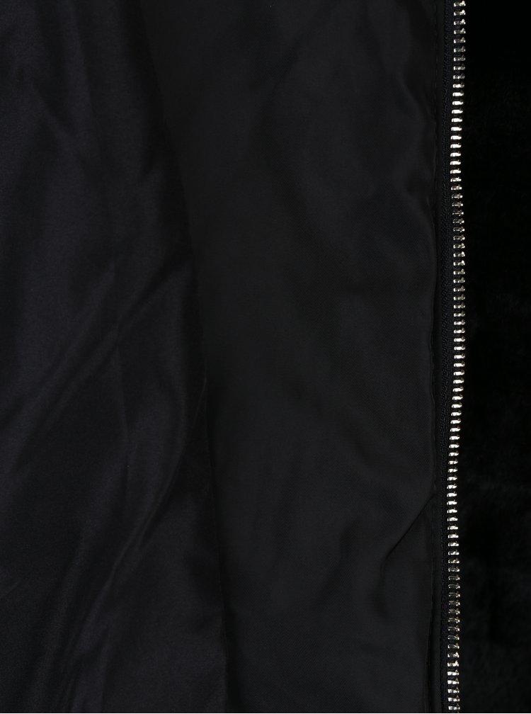 Černá bunda z umělého kožíšku VILA Maya