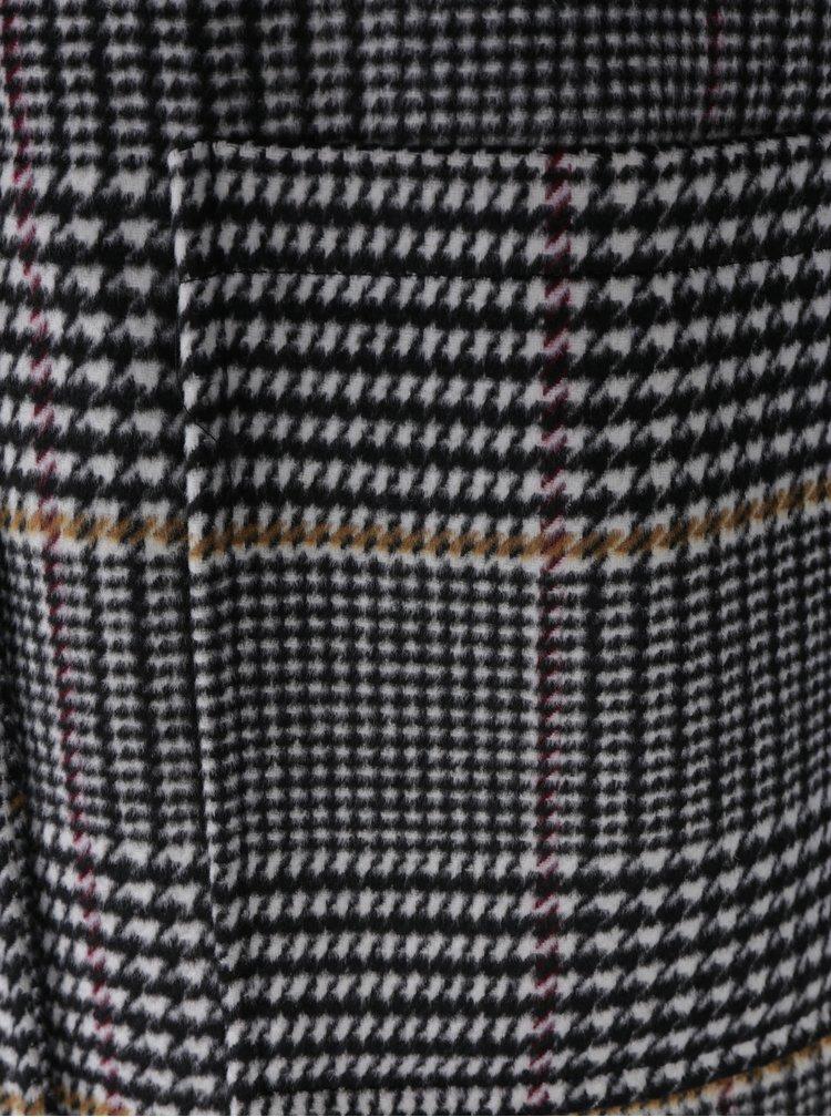 Šedý vzorovaný kabát Miss Selfridge