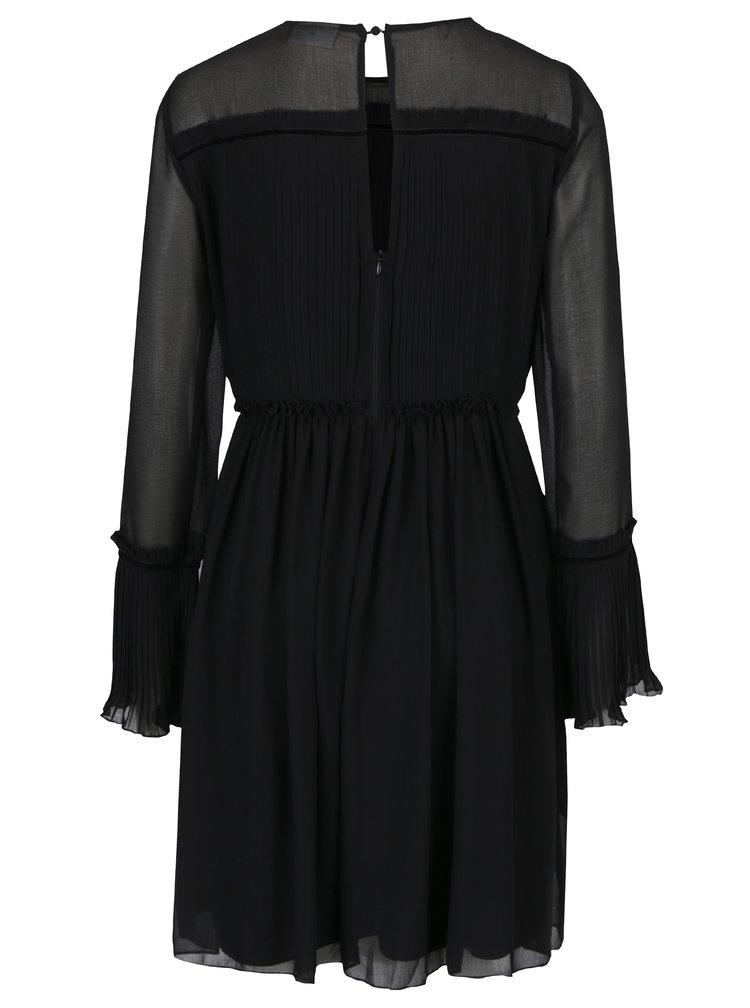 Černé šaty s plisovaným topem VILA Vesper