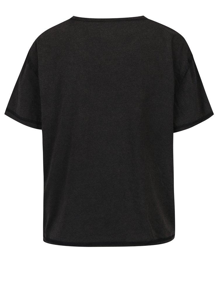 Šedé tričko s potiskem Juicy Couture