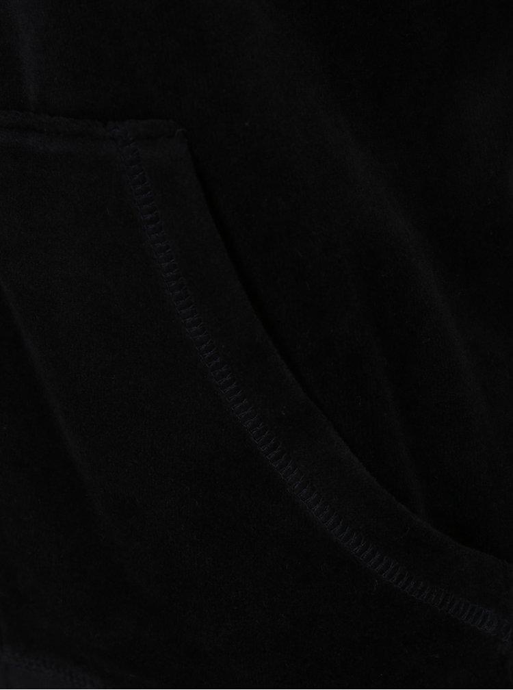 Černá sametová mikina Juicy Couture