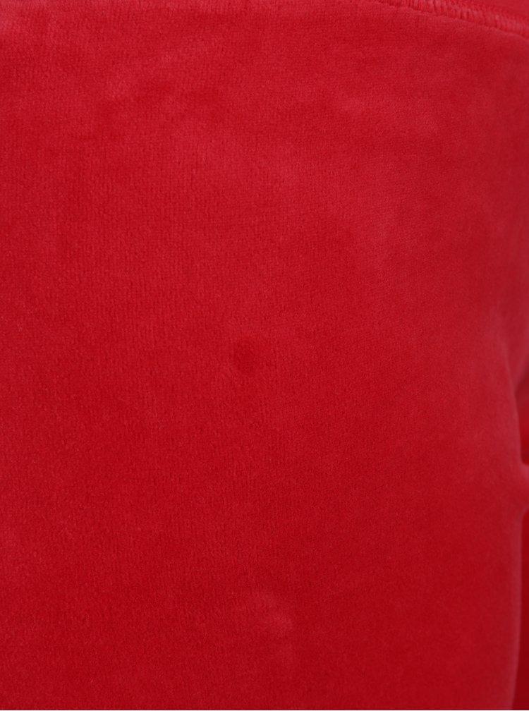Červené sametové tepláky Juicy Couture
