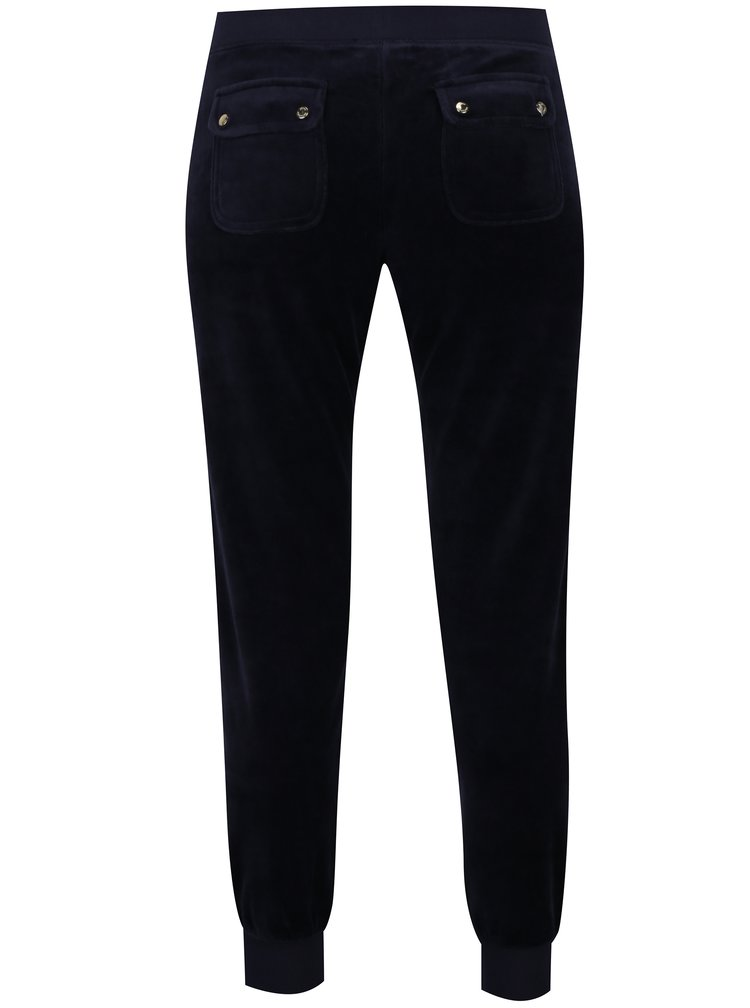 Pantaloni sport bleumarin din catifea -  Juicy Couture