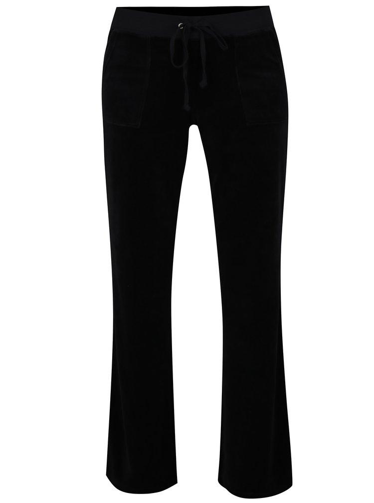 Pantaloni sport negri din catifea - Juicy Couture