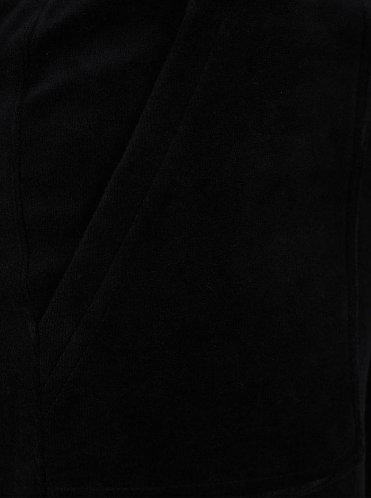 Černé sametové tepláky Juicy Couture