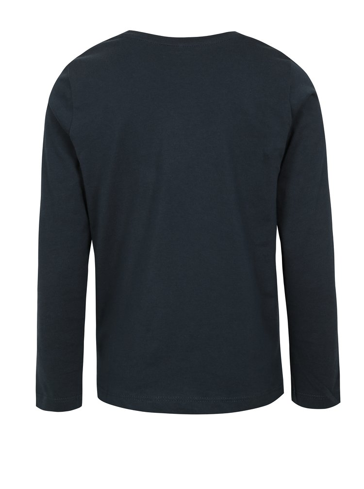 Tmavě modré klučičí tričko s potiskem name it Izak