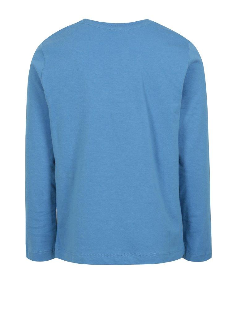 Modré klučičí tričko s potiskem name it Izak