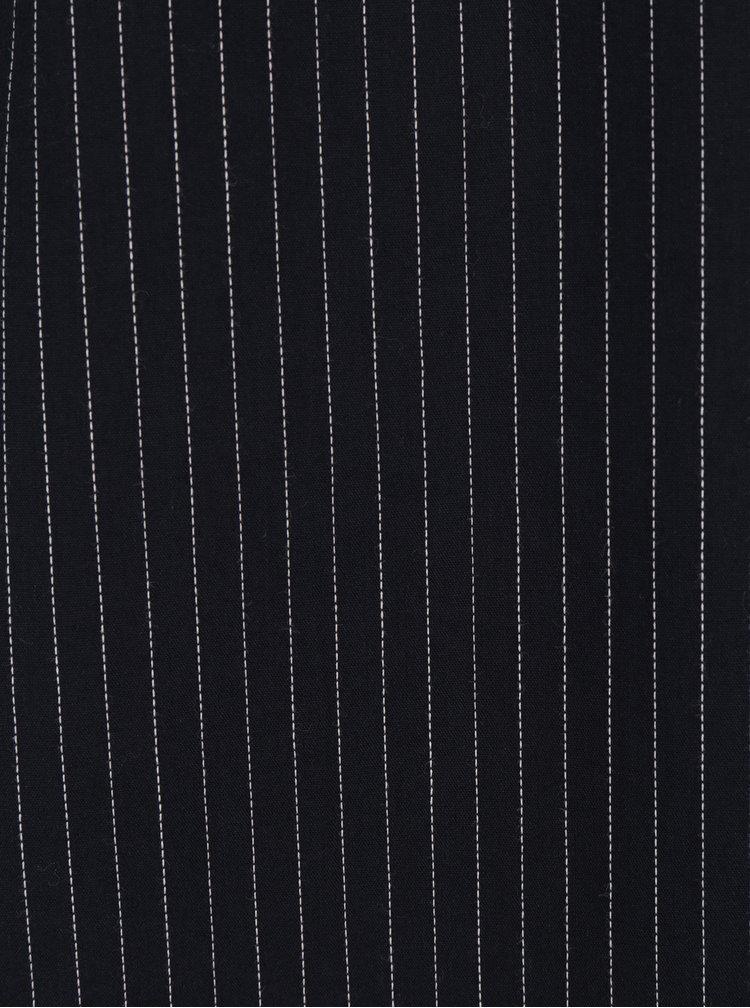 Tmavě modrá pruhovaná košile s průstřihy na ramenou Jacqueline de Yong Taylor