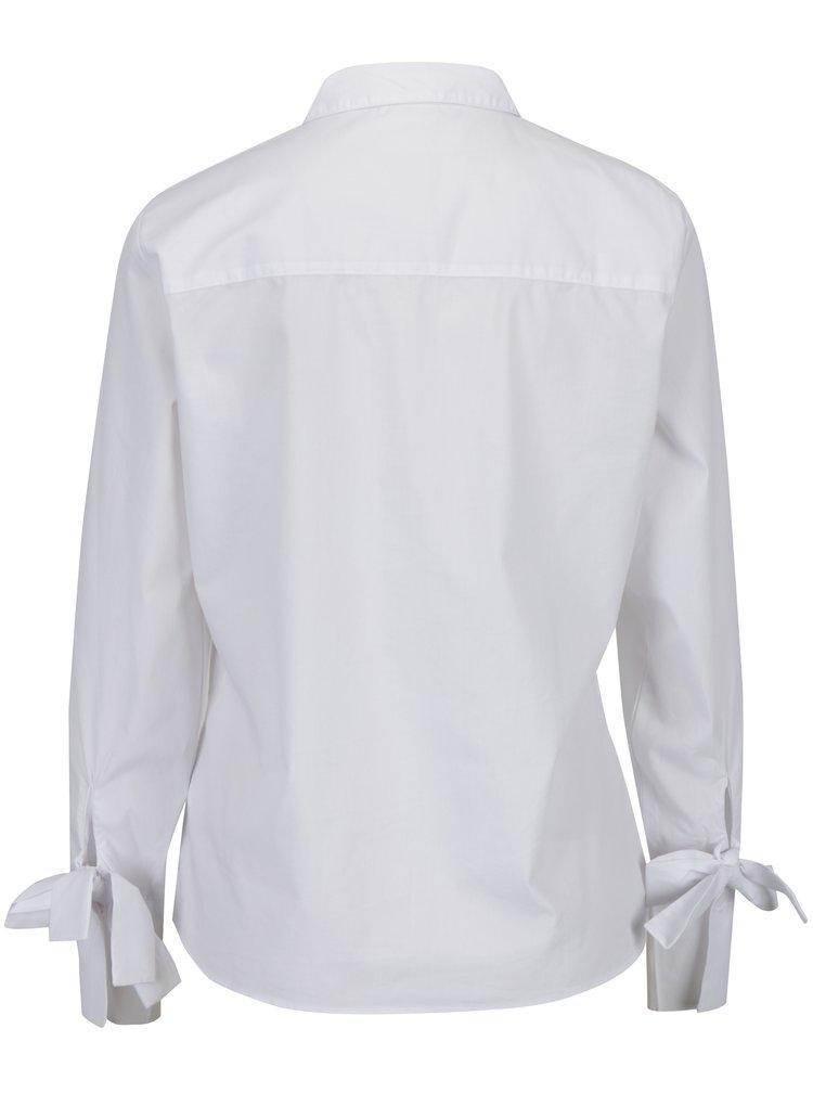 Bílá košile s mašlemi na rukávech Jacqueline de Yong Taylor