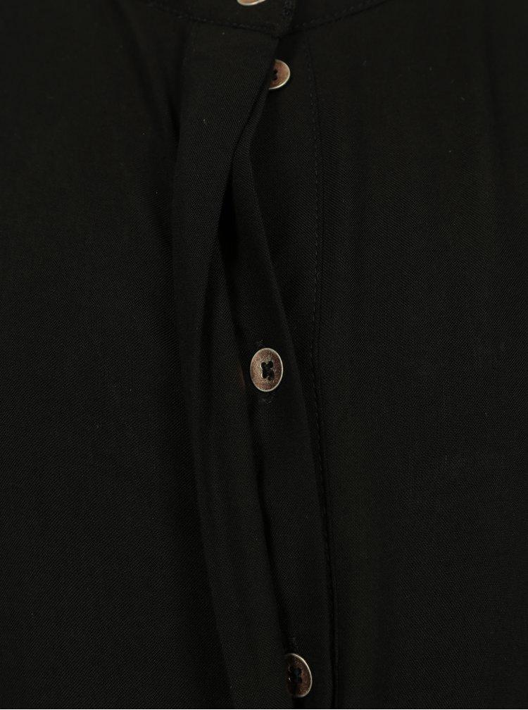 Černé holčičí košilové šaty s volánky name it Hassi