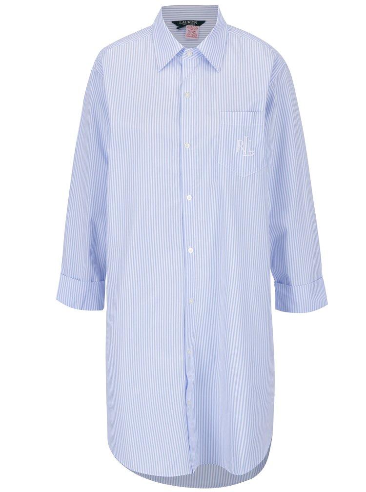 Modro-bílá pruhovaná noční košile s kapsou Lauren Ralph Lauren Heritage