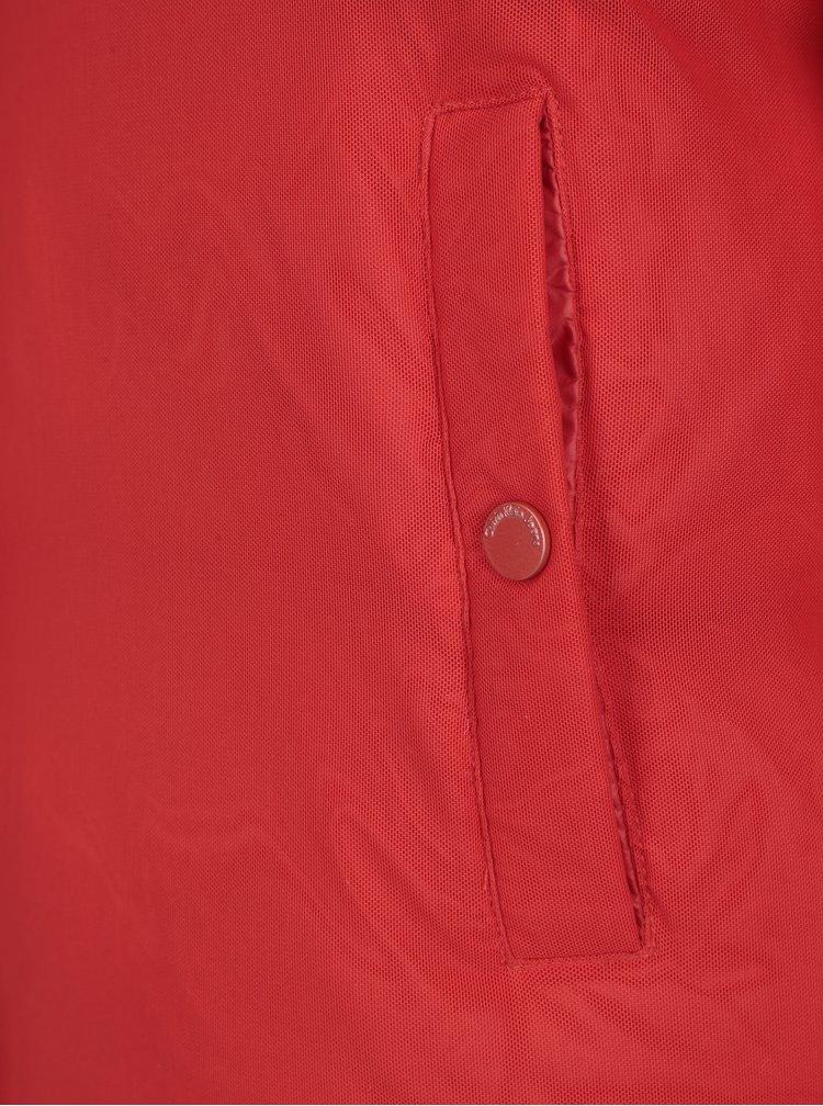 Červená dámská zimní péřová bunda Calvin Klein Jeans Ocoon