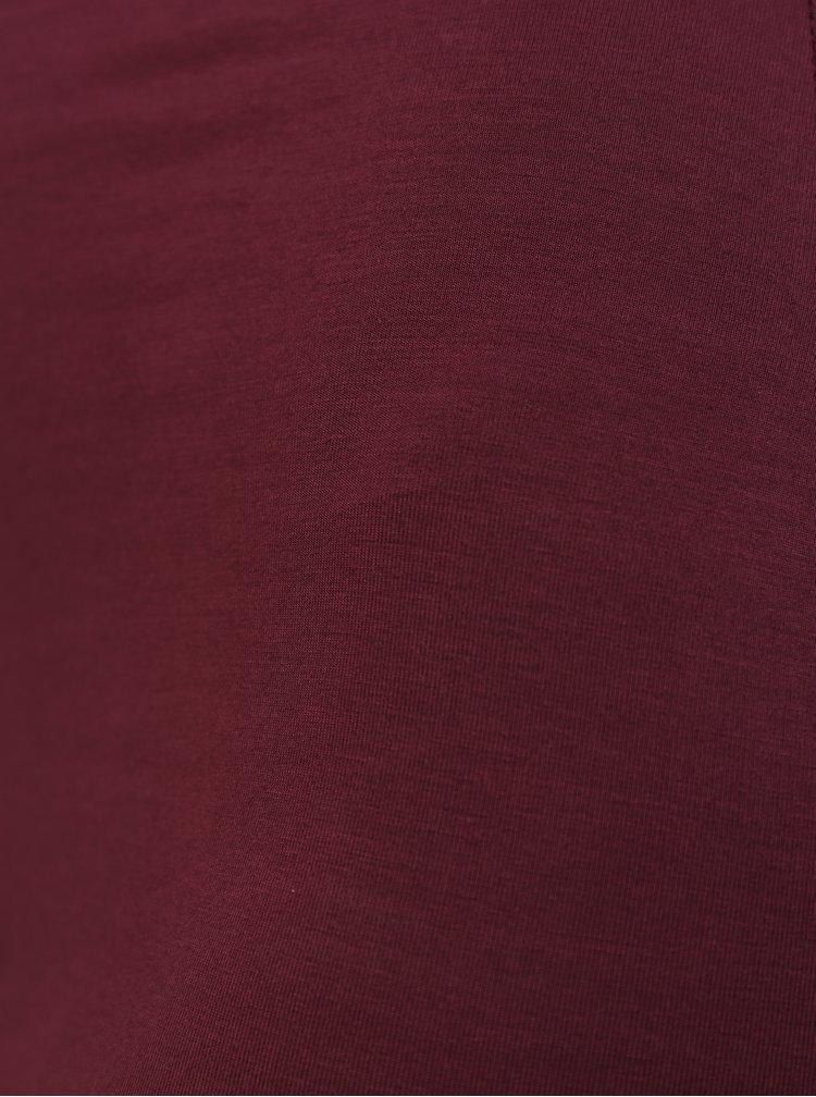 Vínové šaty na ramínka MISSGUIDED