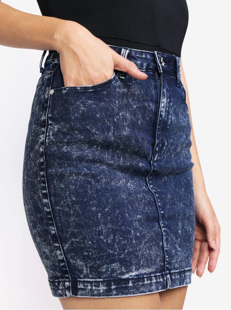Modrá džínová mini sukně MISSGUIDED