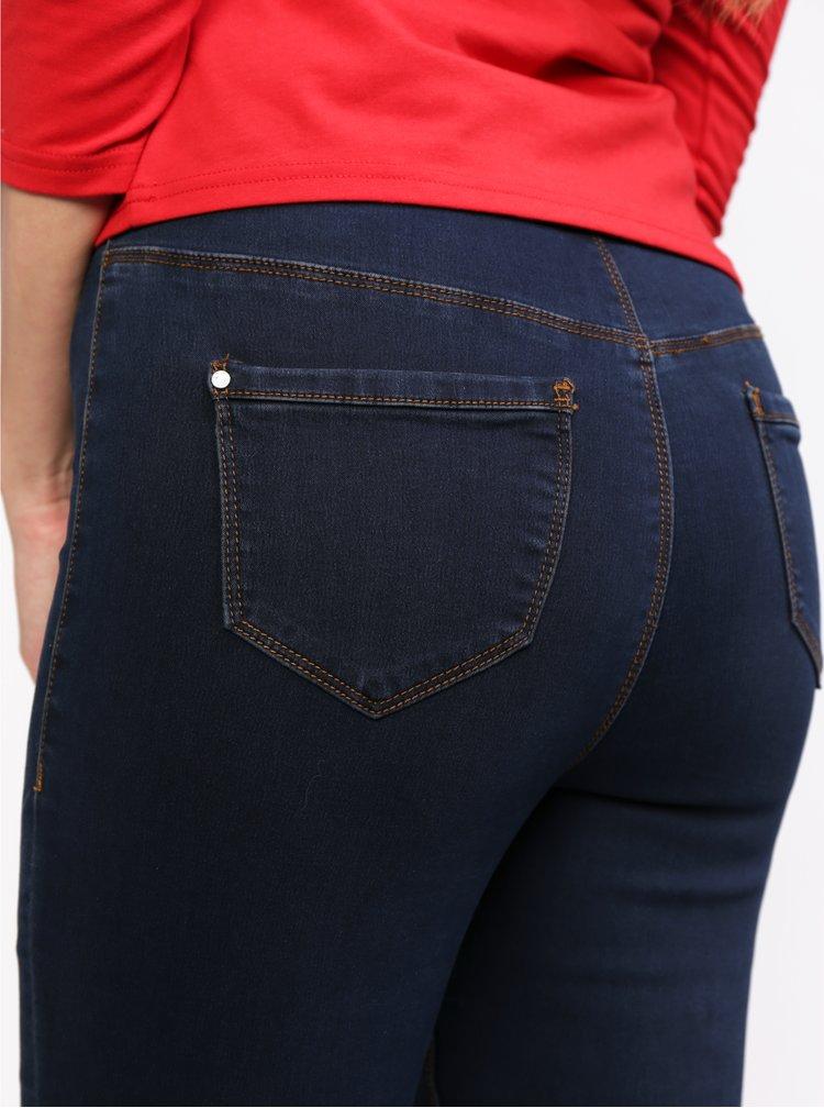 Tmavě modré džíny s vysokým pasem MISSGUIDED