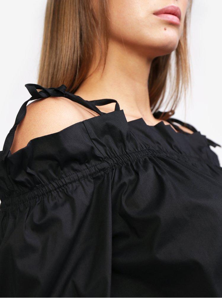Černá halenka s odhalenými rameny MISSGUIDED